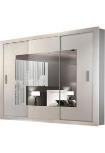 Guarda Roupa Veneza Top 3 Portas Com Espelhos Branco