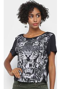 Camiseta My Favorite Things Tigre Stay Wild Feminina - Feminino-Preto