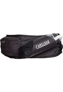 Pochete Flash Belt Camelbak, Acompanha Garrafa Peak Chill De 500Ml. Ideal Para Caminhadas E Corridas Preto .