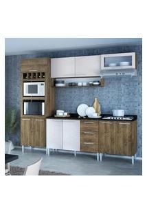 Cozinha Compacta Genialflex Stella Demolição E Gelo 3D Com Tampo