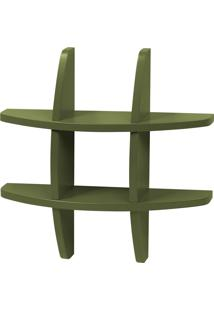 Prateleira Decorativa Pequena Taylor 600 Verde Musgo - Maxima