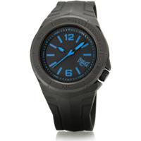 21cabc8e0d0 Relógio Pulso Everlast Masculino Pulseira Silicone Analógico - Masculino- Preto+Azul