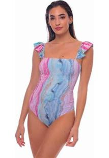 Body Angel Aquarela Brazil Del Mar Feminino - Feminino-Rosa+Azul