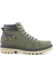 Bota Ferraroni - Masculino-Verde Militar