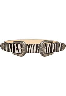 Cinto Cintos Exclusivos Com Duas Fivelas Zebra - Kanui