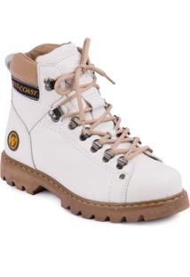 Bota West Coast Adventure Worker Classic - Masculino-Branco