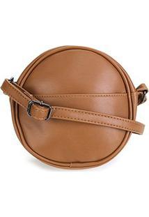 Bolsa Pagani Mini Bag Redonda Feminina - Feminino-Marrom