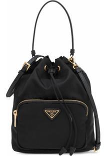 Prada Black Fabric Bucket Bag - Preto