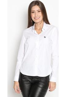Camisa Com Bordado- Branca- Guessguess