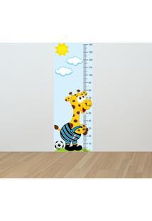 Adesivo Régua De Crescimento Girafa Gremista (0,50M X 1,50M)