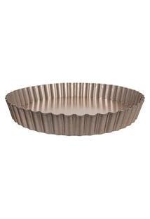 Forma Redonda Para Torta Com Fundo Removível Lumiere 26 Cm