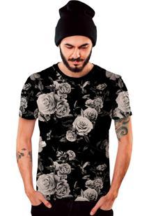 Camiseta Di Nuevo Florida Preta Off White Black Floral Preta