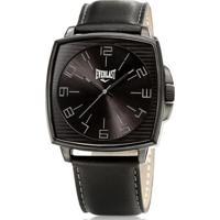 4887c852ee4 Relógio Pulso Everlast Caixa Aço E Pulseira Couro E208 - Masculino-Preto