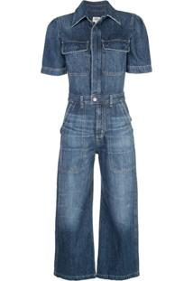 Citizens Of Humanity Macacão Jeans Flare - Azul