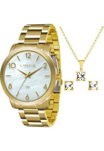 Zattini. Relógio Feminino Unissex Vidro Kit Lince Dourado ... bc9dc36167