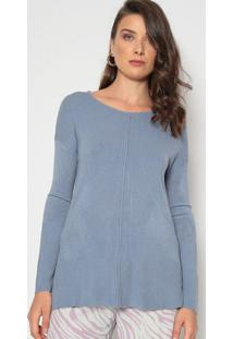 Suéter Em Tricô - Azuldudalina