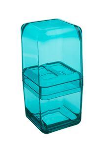 Porta-Escova Cube Com Tampa 10,4 X 8,3 X 2,1 Cm Verde Coza