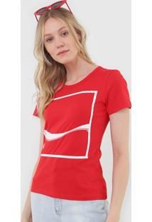 Camiseta Coca-Cola Jeans Logo Vermelha - Vermelho - Feminino - Algodã£O - Dafiti