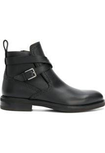 Salvatore Ferragamo Ankle Boot De Couro - Preto