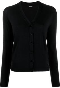 Aspesi Button Fine Knit Cardigan - Preto