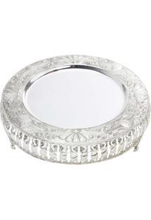 Bandeja Ametista Silver Plated Ref. 3776 - Lyor Classic Prata