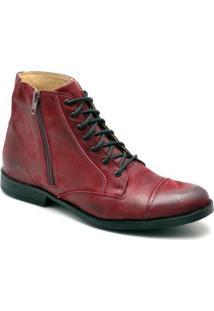 Bota Top Franca Shoes Casual - Masculino-Vermelho