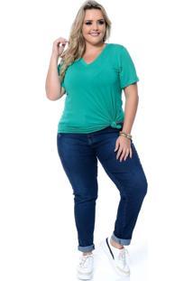 Blusa Bella Plus Size Verde - Verde - Feminino - Dafiti