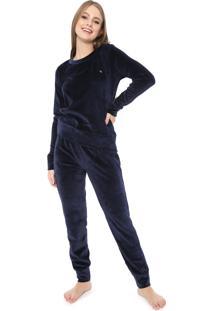 Pijama Malwee Liberta Plush Azul-Marinho