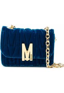 Moschino Monogram Quilted Shoulder Bag - Azul