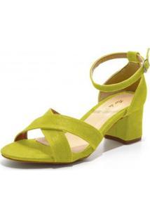 Sandália Dududias10 Trançada Feminina - Feminino-Verde Limão