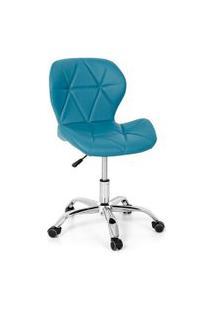 Cadeira Office Eiffel Slim Base Giratória - Turquesa