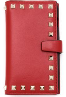 Valentino Clutch Case Para Iphone 7/8 De Couro - Vermelho