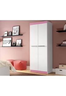 Armário Multiuso Decibal Rp8020 Branco/Rosa Se