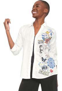 Camisa Desigual Louise Off-White