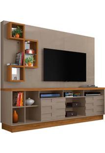 Estante Home Theater Para Tv Até 65 Pol. Heitor Fendi/Naturale - Madet