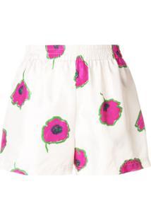 La Doublej Short Floral - Neutro