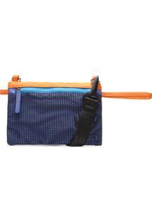 Clutch Azul E Laranja Net | Fiever