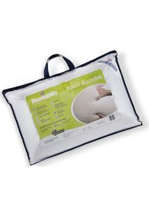 Travesseiro De Látex Basic Dunlopillo C/ Capa De Fibra De Bambu 50 X 70 Cm