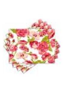 Jogo Americano - Floral Com 4 Peças - 712Jo