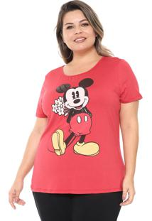 Blusa Cativa Disney Plus Mickey Mouse Vermelha