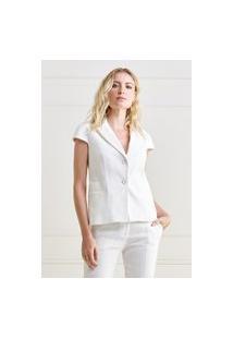 Colete Mx Fashion Sarja Piquet Pierre Off White