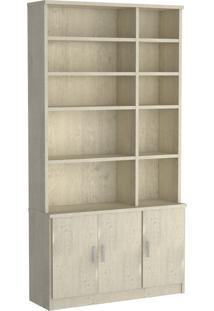 Estante Livraria 3 Portas 1280 Marfim Areia M Foscarini