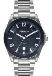 Relógio Euro Color Mix Shine Feminino - Feminino-Prata