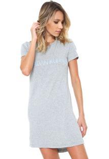Camisola Calvin Klein Underwear Curto Logo Cinza