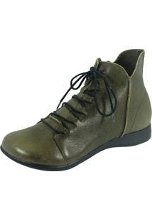 Bota S2 Shoes Cano Curto Verde Folha