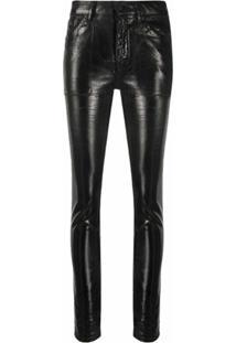Saint Laurent Calça Jeans Skinny Com 5 Bolsos - Preto