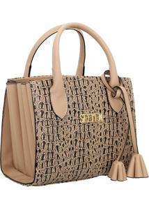 Bolsa Sanfonada Handbag Feminina Bege Selten