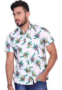 Camisa Rota Do Mar Surf Paradise Off-White