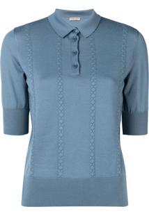 Bottega Veneta Camisa Polo De Tricô - Azul