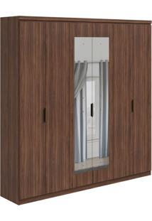 Guarda-Roupa Casal Com Espelho Alonzo 6 Pt 6 Gv Imbuia